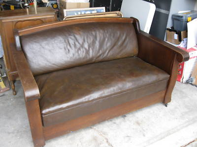 Mission Style Sleeper Sofa Comfort Design Palmer Leather